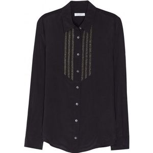 Equipment Femme Silk Button Up Shirt